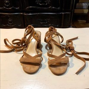 Ivanka Trump suede wrap sandal